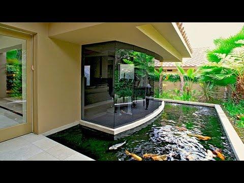 35 attractive aquarium fish tanks design for house for Best koi pond design 2017