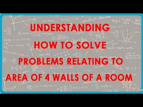 Understanding how to Solve Problems relating to Area of 4 walls of a Room - Maths