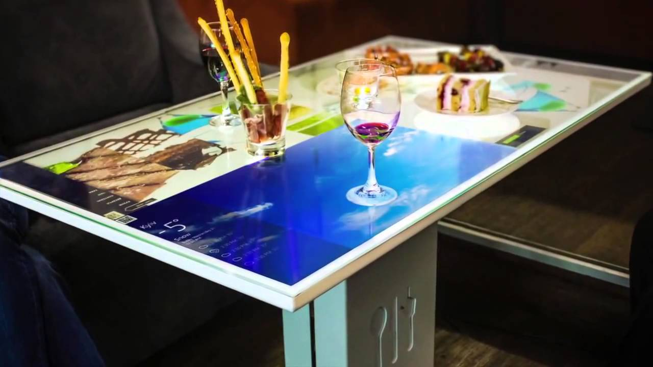 Interactive Coffee Table Irt Interactive Restaurant Technology Youtube