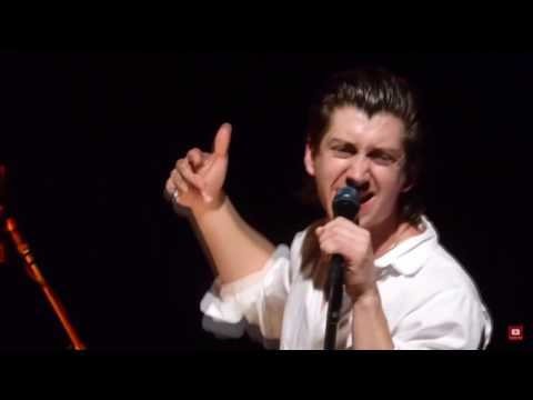 alex turner acting out the words to songs