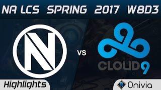 NV vs C9 Highlights Game 1 NA LCS Spring 2017 W8D3 EnvyUs vs Cloud9