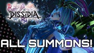 DISSIDIA Final Fantasy NT - All Summons & Finishing Attacks/ Bios!