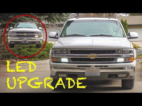 Replacing 3157 Daytime Running Light Bulbs With LEDs // Chevy GMC