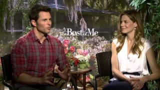 The Best of Me: Michelle Monaghan & James Marsden Official Movie Interview