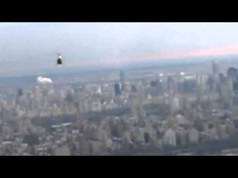 Chase cam of me flying a Robinson R22 helicopter crossing the Hudson River