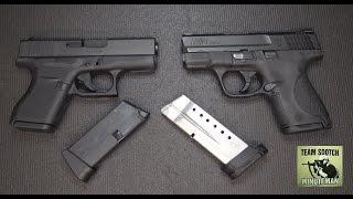 Glock 43 vs S&W Shield 9mm Pistols