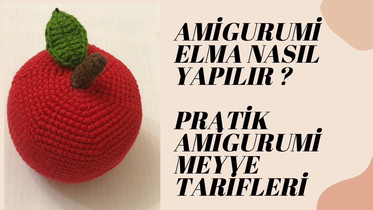 Amigurumi karpuz dilimi ve anahtarlık nasıl yapılır? | Amigurumi meyve ve sebze tarifleri!