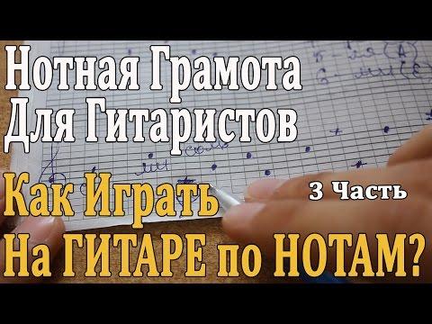 НОТНАЯ ГРАМОТА ДЛЯ ГИТАРИСТОВ: 3 Урок. КАК ИГРАТЬ НА ГИТАРЕ ПО НОТАМ/ Разбор Пьес, Октавы в Музыке