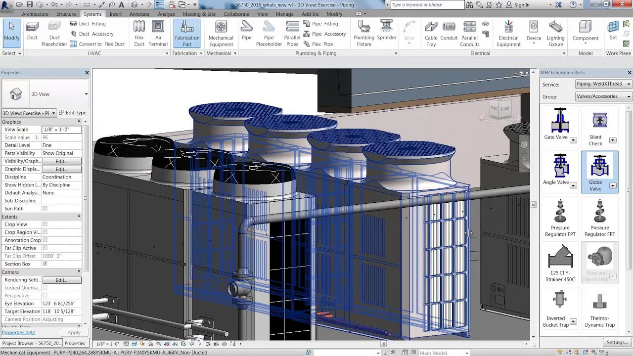autodesk revit mep 2016 pipe layout for fabrication [ 1280 x 720 Pixel ]