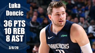 Luka Doncic flirts with a triple-double in Mavs vs. Pacers thriller | 2019-20 NBA Highlights