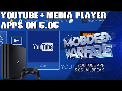 How to run Youtube & Media Player Apps on a 5.05 PS4