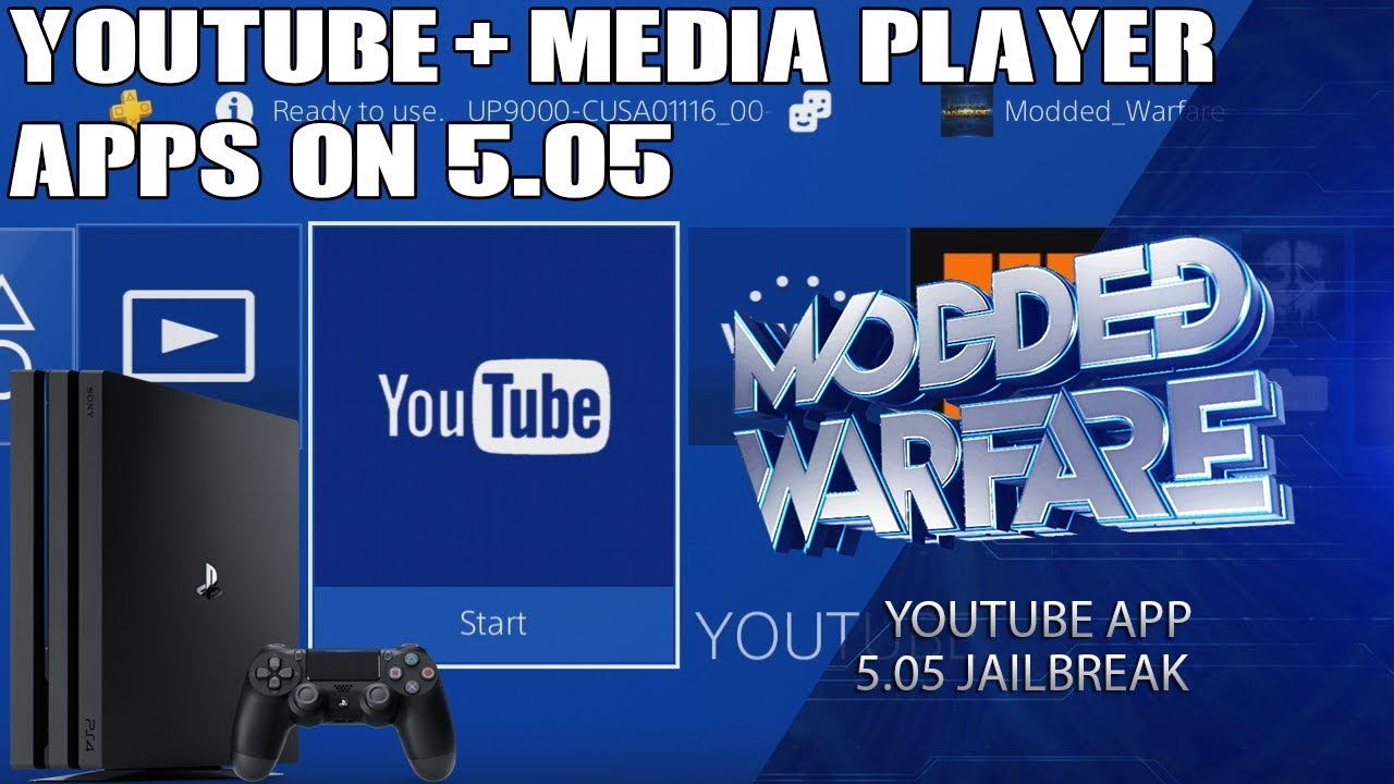 How to run Youtube & Media Player Apps on a 5 05 PS4