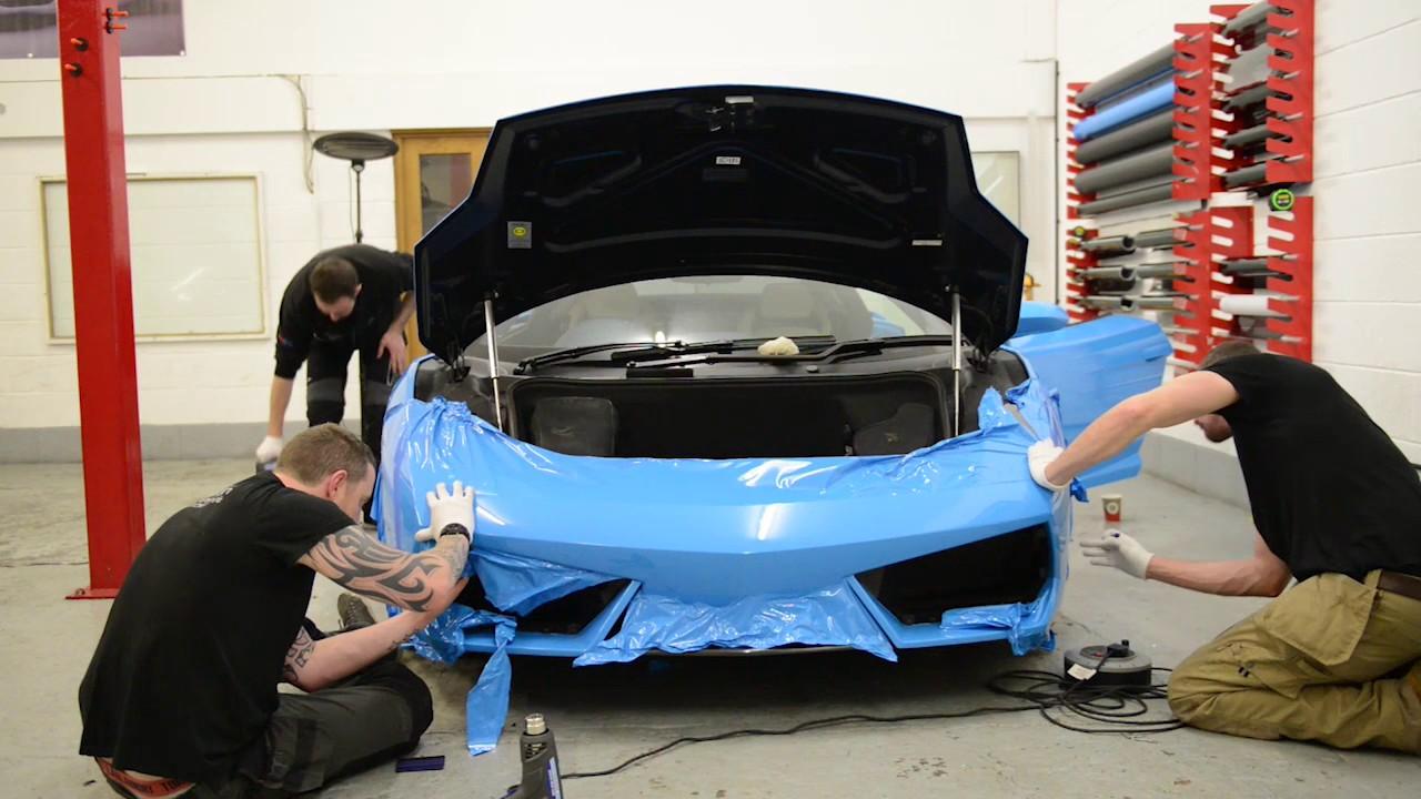 Lamborghini Gallardo Full Vinyl Wrap In Baby Blue Youtube
