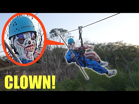 when you see clowns on a Zipline, do not let them catch up to you! (Run Away FAST!!)