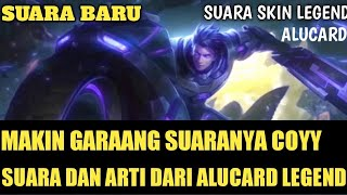 SUARA & ARTI DARI SKIN LEGEND ALUCARD   MOBILE LEGENDS