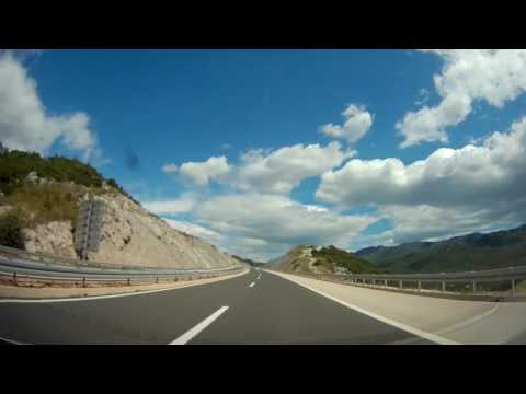 Drive timelapse from Split, Croatia to Kravica, Bosnia (HD 1440P, no audio)