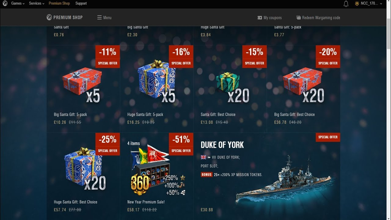 World Of Warships Christmas Containers 2021 Unboxing 85 Christmas Crates World Of Warships Youtube