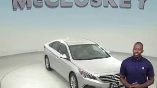 G98536TR Used 2017 Hyundai Sonata SE FWD 4D Sedan Silver Test Drive, Review, For Sale -