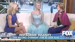 The real life Elsa sings Frozen's Let It Go on Fox & Friends