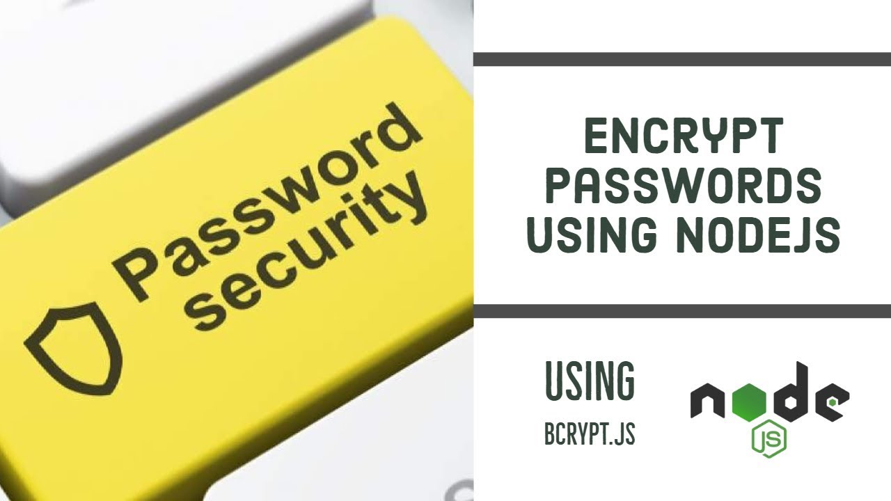 How to encrypt or hash passwords in Javascript/NodeJS