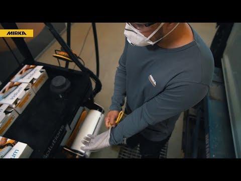 Mirka Iridium Meules pneus 81x133 mm 54 Lo-vite-sévèrement-Poussière NEUF