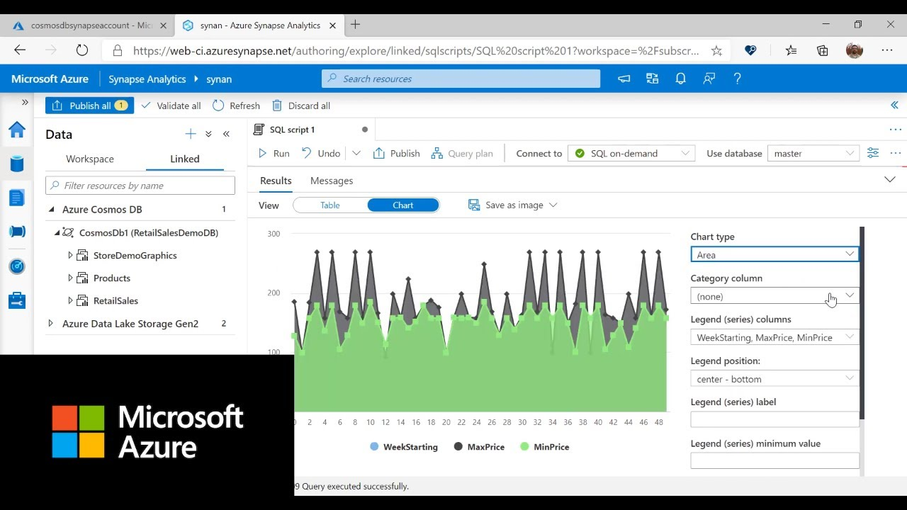 Microsoft Azure Synapse Link for Cosmos DB Integration