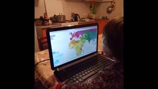 Лучше всех!  Аиша знает карту мира! 2 года