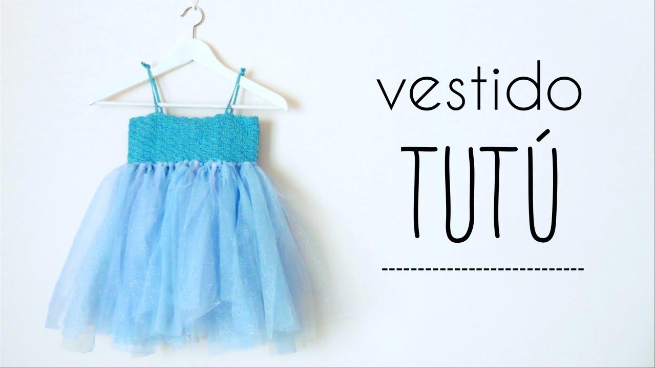 vestido TUTU (todas las tallas) con canesú de ABANICOS a crochet ...