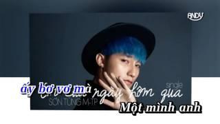 Karaoke HD Âm Thầm Bên Em - Sơn Tùng M TP Beat gốc