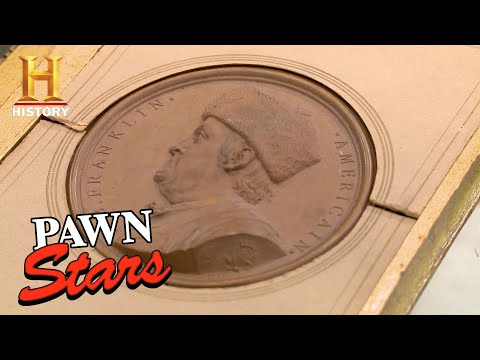 Pawn Stars: A Seller's Ridiculous Offer For A Ben Franklin Medallion (Season 11) | History