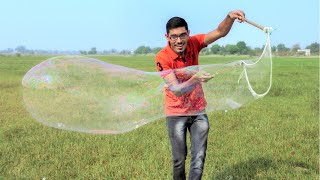 Making Extra Large Giant Bubbles | Super Awesome Experiment