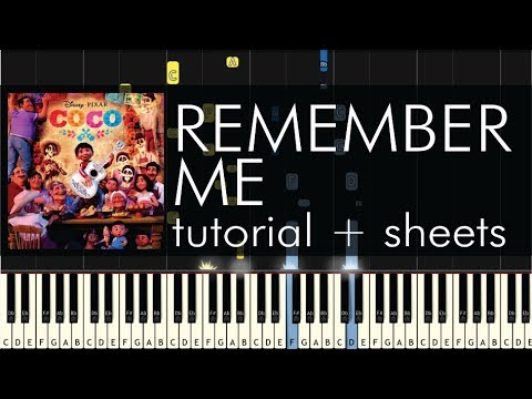 Coco - Remember Me (Lullaby) - Piano Tutorial + Sheets