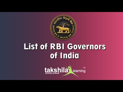 list of all governor of reserve bank of india