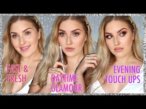 3 in 1 makeup tutorial w touch ups! 💕 EVERYDAY makeup to SIMPLE GLAM thumbnail