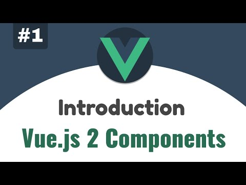 #1 - Introduction to Vue.js Components | Vue 2 Components, Beginners tutorial thumbnail