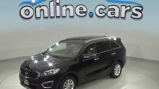 C98875TR Used 2017 Kia Sorento LX AWD SUV Black Test Drive, Review, For Sale