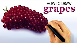 How To Draw Grapes (Corel Painter 2015 Tutorial) [Draw This #54]