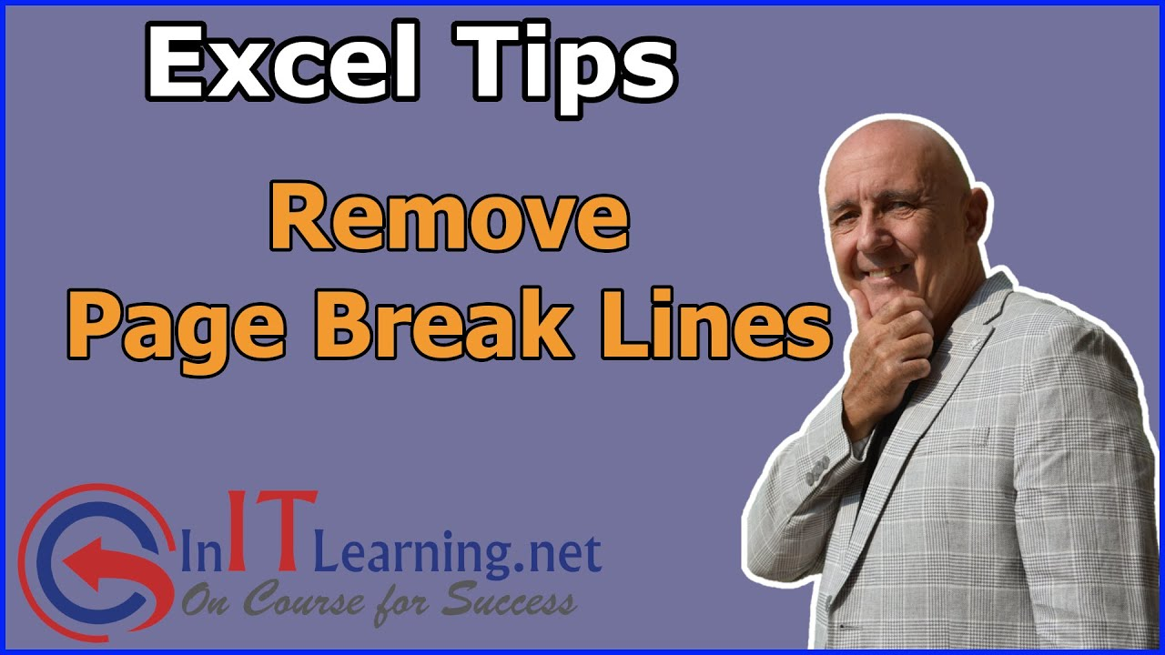 Remove Page Break Lines in Excel - YouTube