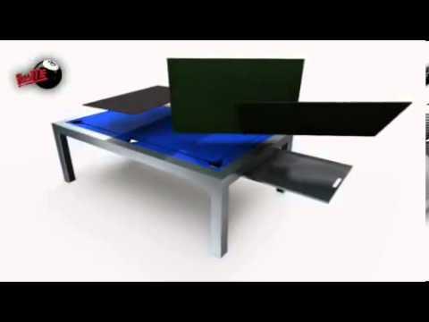 Mesas de Billar Convertibles en Mesa de Comedor - YouTube