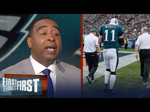 Nick and Cris react to Carson Wentz's ACL injury during Week 14 | FIRST THINGS FIRST