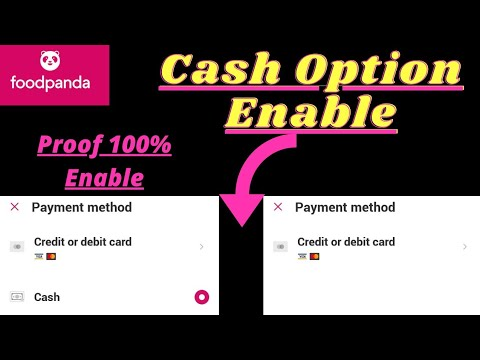 FoodPanda Cash On Delivery Option Enable Kaise Karen 😳😳|How to Enable Food panda Cash Option|