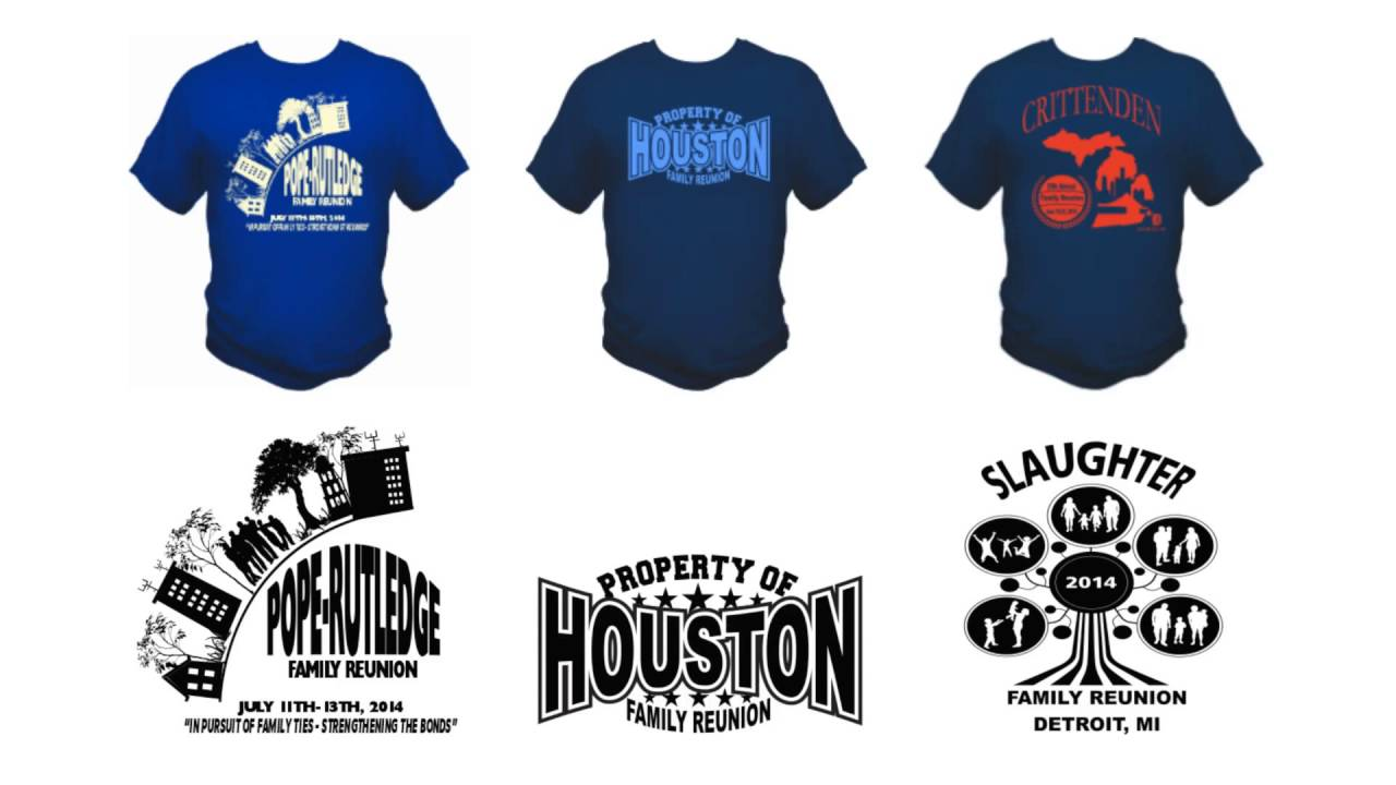 ab564fda7 Family Reunion T-shirt designs only $25!! - YouTube