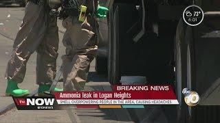 ammonia leak in logan heights