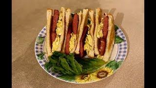 午餐肉滑蛋三明治  美味又简单好吃, 早餐的方便之選  Cooking SPAM ham sandwich 平靚正快 煮食天地 陳叔善 episode 50