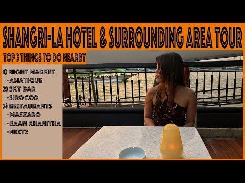 Bangkok Shangri La Hotel Sky Bar Night Market Restaurants