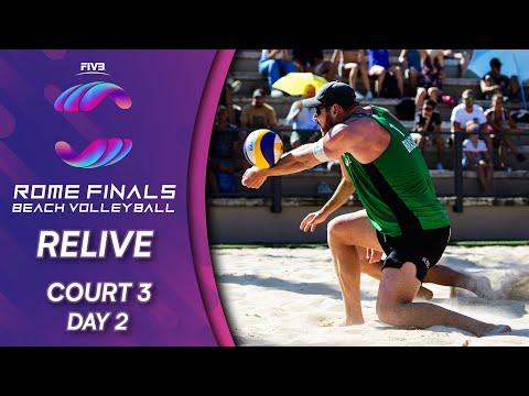 FIVB Beach Volleyball World Tour Finals 2019   Court 3 - Day 2   Rome