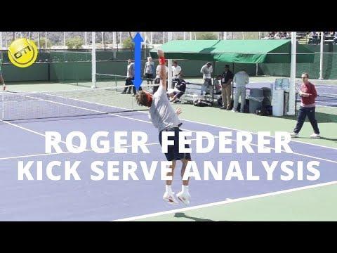 Roger Federer Kick Serve Analysis - BNP Paribas Open 2013