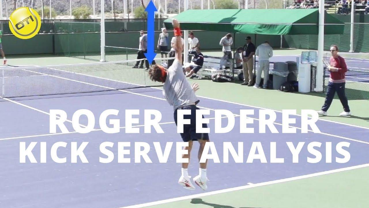 Roger Federer Kick Serve Analysis Bnp Paribas Open 2013