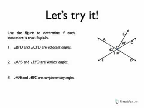 Types of Angle Pairs - YouTube