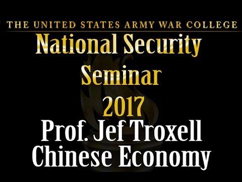 Chinese Economy, Prof John Troxell